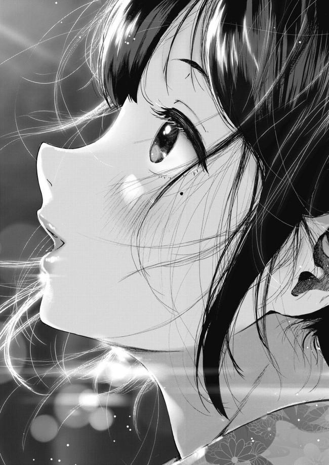【画力抜群】花火の光に反射した浴衣姿の彼女が可愛すぎて…夏休み最後にいい想い出が出来た(尊い)